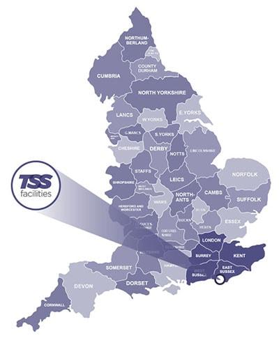 TSS Facilites Location Map graphic